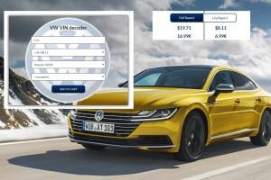 Fast PDF Volkswagen mileage report on VIN code