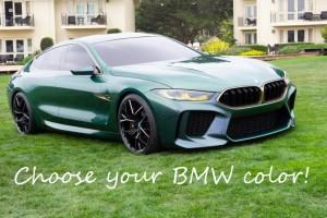Коды цвета автомобилей BMW по годам: 2009-2019. Часть 2.